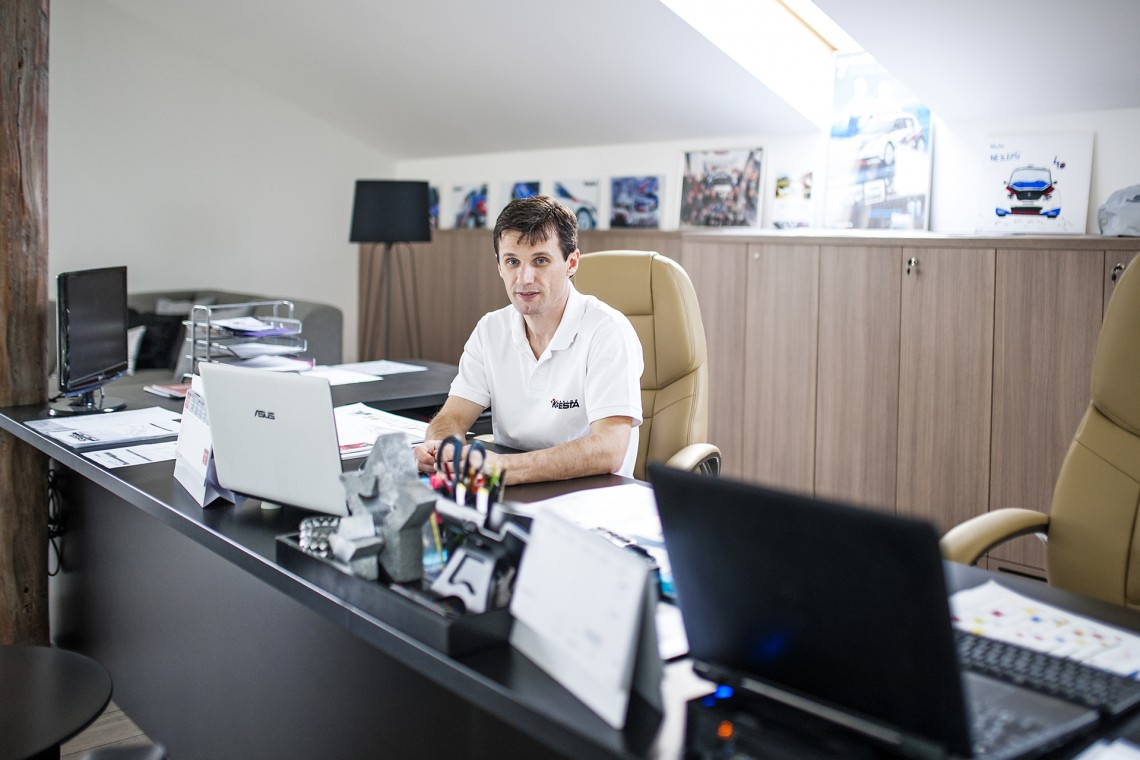 Šéfova kancelář zblízka